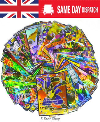 100PCS (80EX + 20 MEGA EX) POKEMON cards TCG Flash HOLO Trading cards deck set