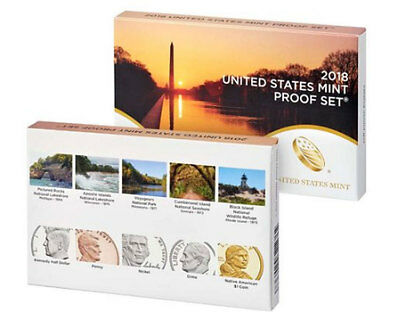 2018-S Proof Coin Set-10 proof coins with Box and CoA, Same Day Shipping!!!