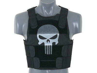 Skull Body Armor - Körperpanzer, schwarz- Airsoft Softair Weste Plate Carrier