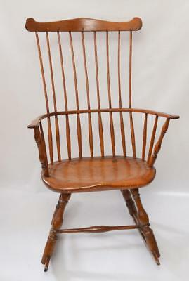Antique Comb Back Windsor Rocker With Great Patina Lot 177