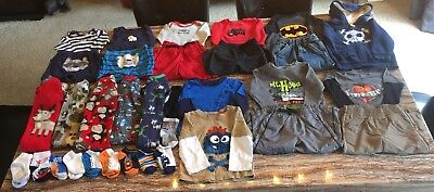 18 Month Boys Clothes Lot 33 ITEMS Long Sleeve & Pants! Okie Dokie Carters Circo