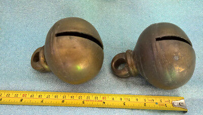 Antique Large Brass Bell Bells Sleigh Hanging English