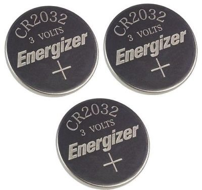3 x  PC ENERGIZER CR2032 WATCH BATTERIES 3V LITHIUM CR 2032 DL2032 BR2032