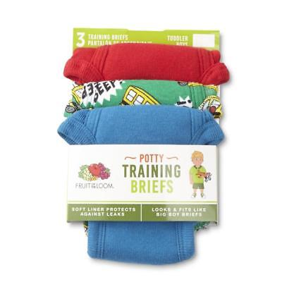 Fruit of the Loom Toddler Boys' 3-Pack Potty Training Briefs 2T/3T New Free Ship