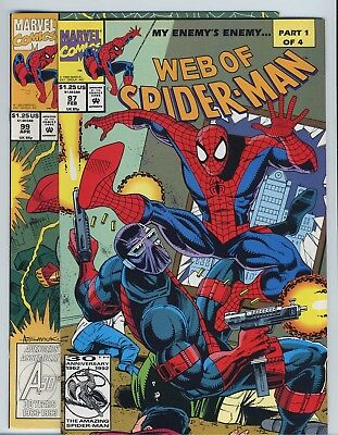 Web Of Spider-Man #97 & #99 Marvel Comics 1st Appearance Nightwatch Set VF/NM