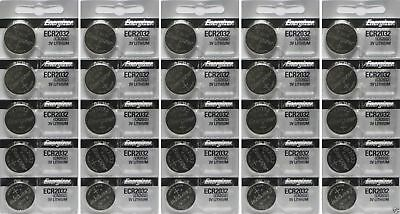 Lot of 25 PC ENERGIZER CR2032 WATCH BATTERIES 3V LITHIUM CR 2032 DL2032 BR2032