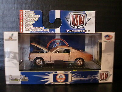 M2 Machines 1965 Shelby GT350 Ford Mustang Wimbeldon White Dirty 1/64 Die Cast