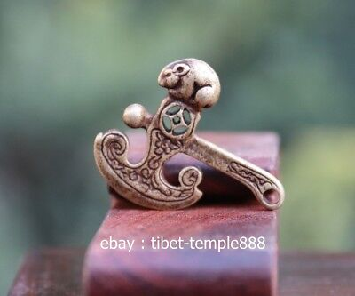 4.5 CM China Pure Bronze mouse axe Counteract Evil Force Aniaml Amulet Pendant
