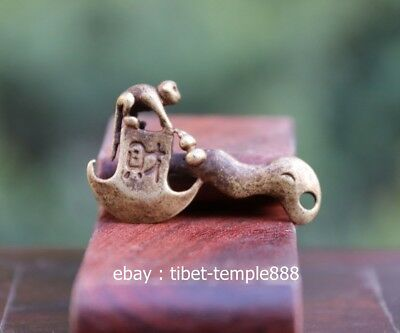 4.5 CM China Pure Bronze Monkey axe Counteract Evil Force Aniaml Amulet Pendant