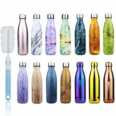 Vacuum Thermo Water Bottle Flask Insulated Stainless Steel Sport Drink Cup 500ml