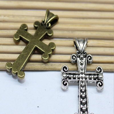 8/20pcs 19x31mm Vintage Alloy Fashion Beautiful Cross Charm Pendant