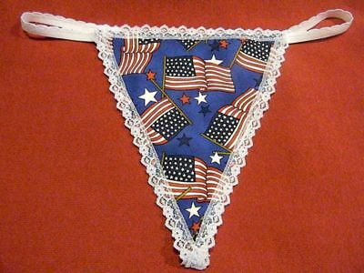 a48d5ee8cf9 Womens US USA AMERICAN FLAG Patriotic Gstring Thong Underwear Panty Lingerie