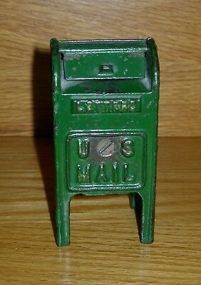 """c.1928 HUBLEY """"STANDING MAIL BOX (SMALL SIZE)""""  CAST IRON STILL BANK"""