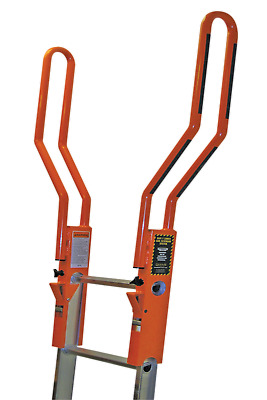 GUARDIAN Removable Walkthru Handrails for Extension and Single Ladders