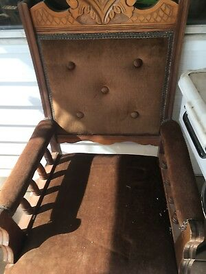 Antique Edwardian Grandfathers Chair