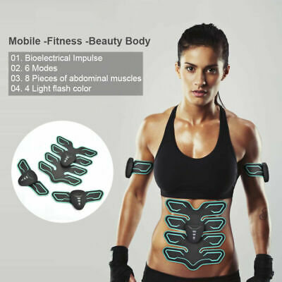 Smart Abs Muscle Toner Abdominal Toning Belt EMS ABS Trainer Stimulator Training