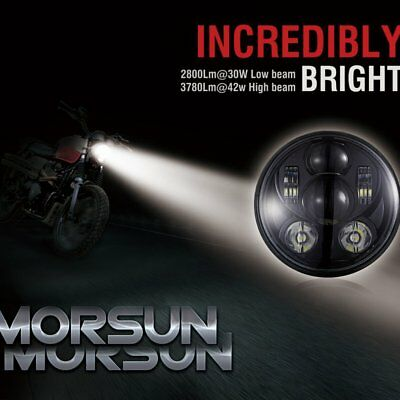 "5.75""' Motorcycle LED Headlight Black Hi/Lo Daymaker Projector Cree For Harley T"
