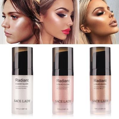 Makeup Liquid Highlighter Shimmer Cream Face Contour Brightener Bronzer Beauty