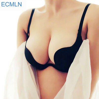 Womens Push Up Bra Sexy Backless Plunge Deep V Intimate Low Cut Ladies Underwear
