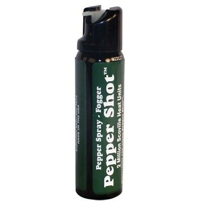 Pepper Shot 4 oz Pepper Spray FOGGER - HOTTEST Police Strength Self Defense