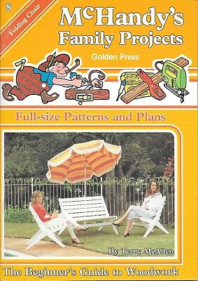 McHandy's family projects #8 Folding chair factory folded plans vintage 1982