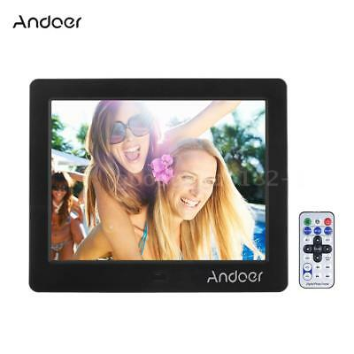 """Andoer 8"""" HD LCD 1024*768 Digital Photo Frame Picture Album MP4 Movie Player AU"""