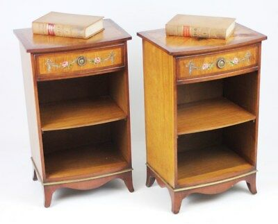 A pair of Vintage G T Tackstraw Walnut Bedside Cabinets - FREE Shipping [PL4354]