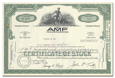 AMF Incorporated Stock Certificate (Bowling Pins, Head, Tyrolia, Ben Hogan)