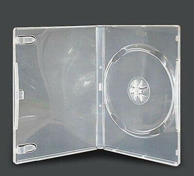 25 Single CLEAR 14mm Quality CD / DVD Cover Cases HOLD 1 Standard Size DVD case
