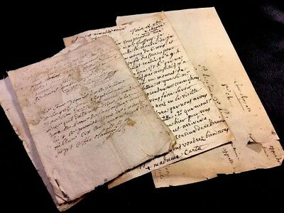 COLLECTION OF FAMILY CORRESPONDENCE 1600s