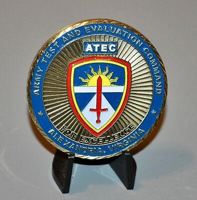 US ARMY ATEC Test Evaluation Command CSM Sergeant Major Challenge Coin
