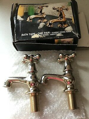GOLD PLATED Victorian Style Bathroom Basin Taps by Cascade Bristan ...