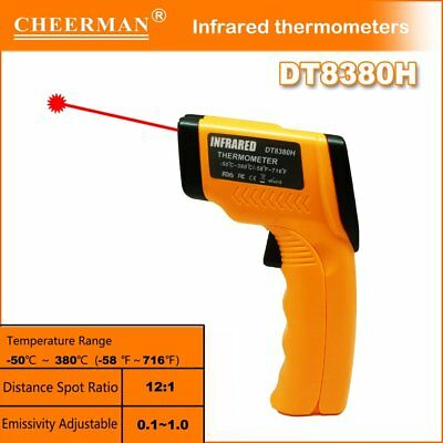 IR Infrared Thermometer DT8380H Laser Digital Non-Contact Temperature Meter SM