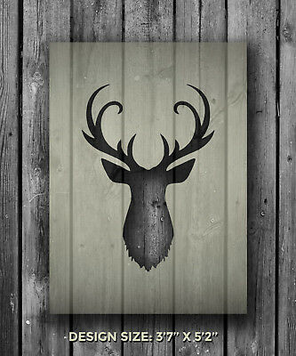 A5 Stag 1 Mylar Reusable Stencil Airbrush Painting Art Craft DIY Home Deco