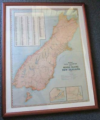 South Island New Zealand. Map 1889.