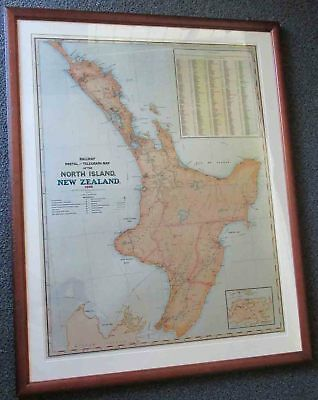 North Island New Zealand. Map 1889.