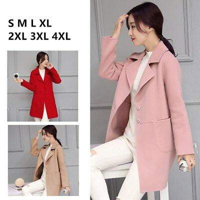 Long Coat cotton Lapel WOMEN Jacket OUTWEAR WINTER Trench Parka wpgqx4ISx