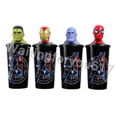 Avengers Infinity War Movie Theater Exclusive Topper Cup Thanos Spider-man Hulk