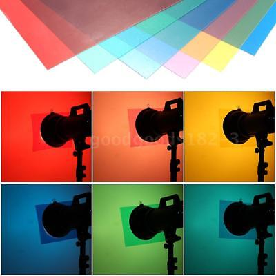6X Color Light Gel Filter Gel Sheets Set Pack Video Camera Light Studio Film DV