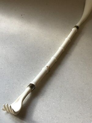 Vintage Back Scratcher And Shoe Horn Riding Crop Style Cream / White Mint