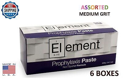 Element Prophy Paste Cups Assorted Medium 200/box  Dental W/fluoride - 6 Boxes