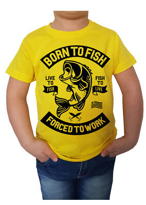t-shirt bambino bimbo bimba Born To Fish pesca pesce idea regalo gift sport