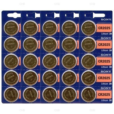 Lot of 50 **FRESH NEW** SONY CR2025 Lithium Battery 3V Exp 2027 Coin Cell