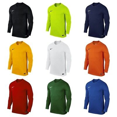 Nike Park Kids Boys Football Sports T Shirt Long Sleeve Junior Training Tops