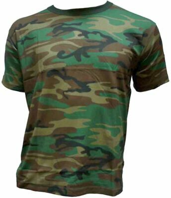dcac9a3bf85cad T-Shirt halbarm US Army Style Woodland Camouflage Outdoor Tarnshirt 185 g/m²
