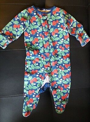 Gorgeous Girls Green & Blue  Strawberry Flower All In One  Next 3 - 6   Months