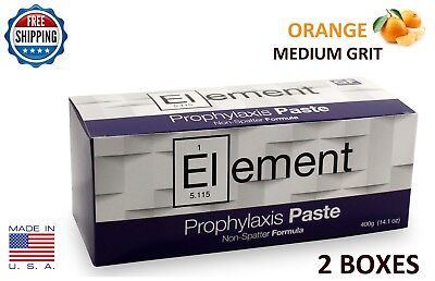 2 Boxes Element Prophy Paste Cups Orange Medium  200/box Dental W/fluoride