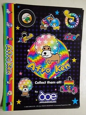 RARE (2002) San-x Afro Ken Dog Stickers Sack Sticker Stationery (2 Sheets)