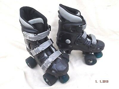 California Quad Roller Skates,size 2 Uk,good Cond,3 Straps,well Padded,clean