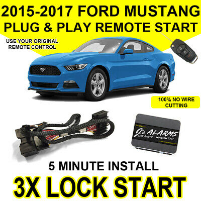 2015-2017 Ford Mustang Remote Start Plug and Play Easy Install 3X Lock GT Push